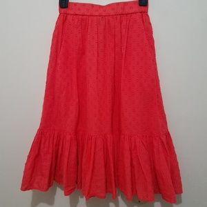 J. Crew Clip Dot Tiered Skirt